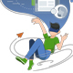 Guy Hovers in Cloud of Virtual World - GraphicRiver Item for Sale