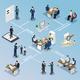 Employment Recruitment Isometric Flowchart