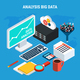 Big Data Analysis Isometric Design Concept
