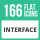 166 Interface Flat Icons