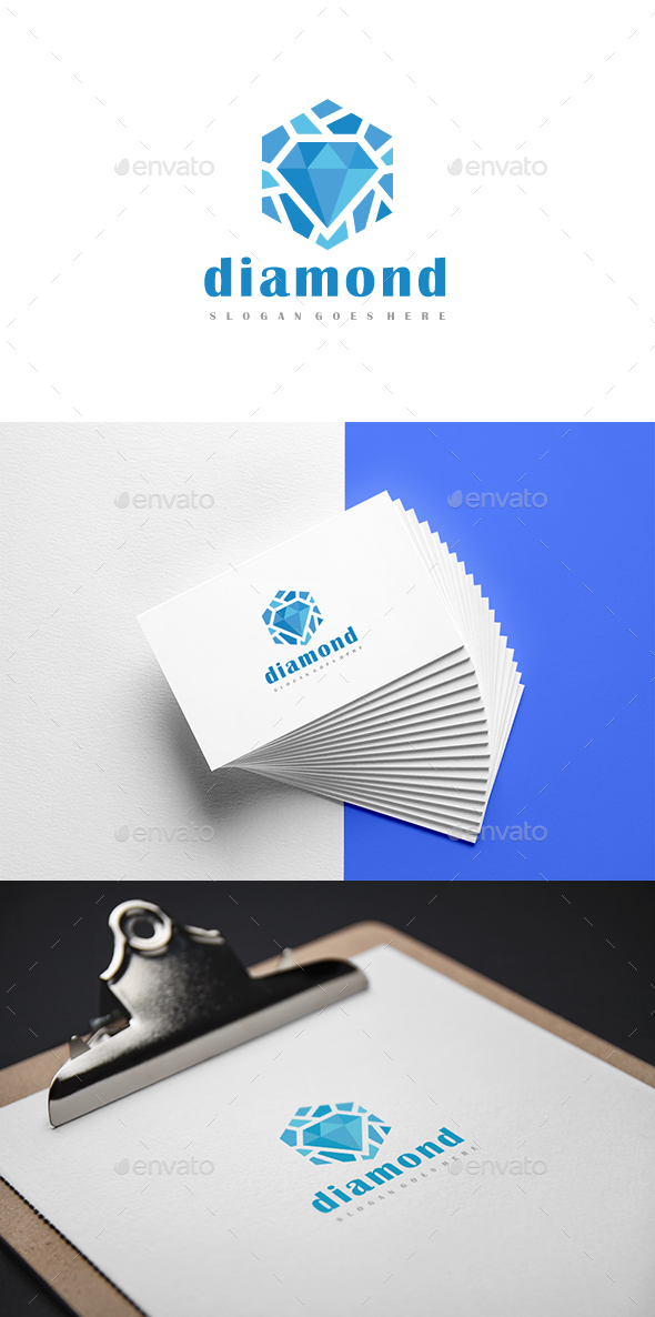 Diamond Hexagon Logo - Abstract Logo Templates