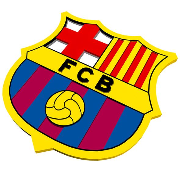 FC Barcelona Logo - 3DOcean Item for Sale