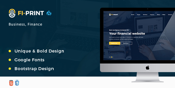 Fi-Print – Business, Finance, Accountant Corporate Drupal 8 Theme - Business Corporate
