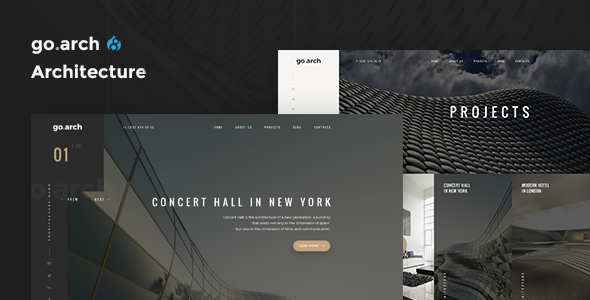 Image of go.arch - Architecture & Interior Drupal 8 Theme