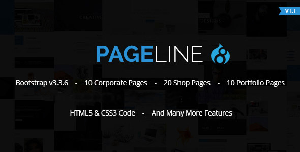 Image of PageLine - Bootstrap Based Multi-Purpose HTML5 Drupal 8.5 Theme