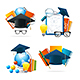 Realistic Detailed 3d Education Set. Vector - GraphicRiver Item for Sale