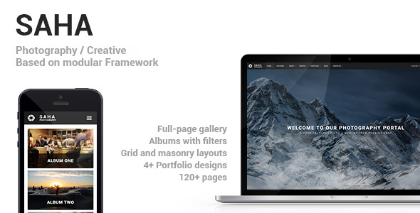 Saha - Photography / Creative Portfolio Template - Photography Creative
