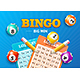 Realistic Detailed 3d Lotto Concept Bingo Big Win Card Background. Vector - GraphicRiver Item for Sale