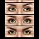 Realistic Female Eyes Expressions Set