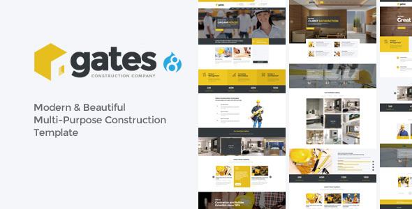 Gates - Multi-Purpose Construction Drupal 8 Theme - Creative Drupal