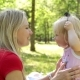 Woman with Child in the Park Outdoors - VideoHive Item for Sale