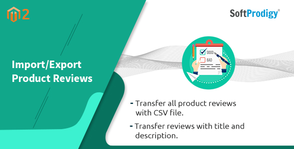 Import/Export Product Reviews Magento2 Extension - CodeCanyon Item for Sale