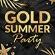 Gold Summer Party Flyer Template - GraphicRiver Item for Sale