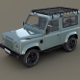1985 Land Rover Defender 90 with interior ver 6 - 3DOcean Item for Sale