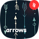 Hand Drawn Arrows Seamless Patterns / Backgrounds