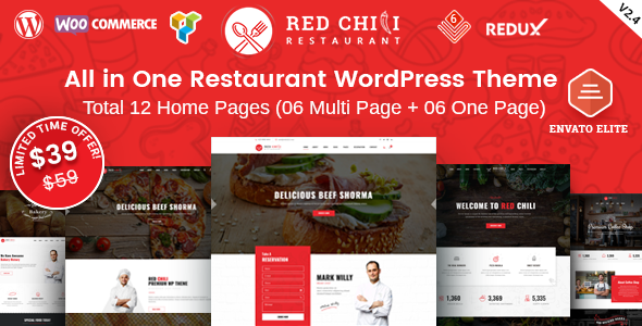 20 Stunning Pizza House WordPress Themes 2019 15
