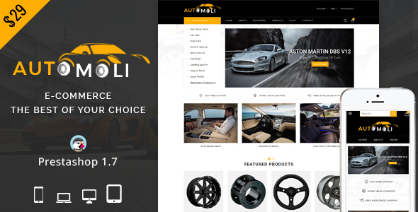 Image of Automoli - Responsive Prestashop 1.7 Theme