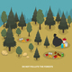 Forest Pollution Isometric Composition
