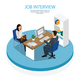 Employment Recruitment Isometric Background