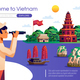 Welcome To Vietnam Illustration