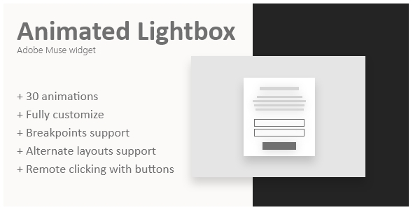 Animated lightbox | Adobe Muse widget            Nulled