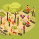 Gardening Isometric Infographics - GraphicRiver Item for Sale