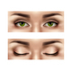 Realistic Female Eyes Set