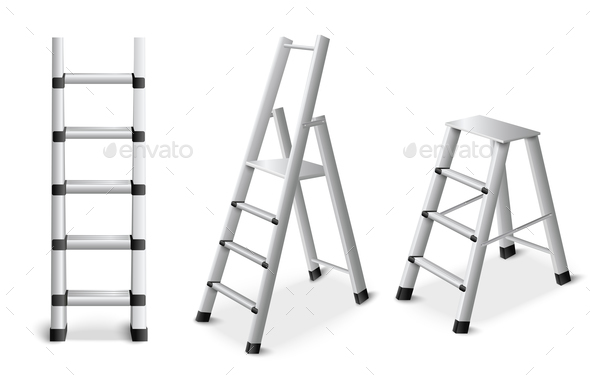 Metal Ladders Realistic Set - Miscellaneous Vectors