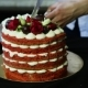 Confectioner Hands Cut Slowly Red Decorated Cake - VideoHive Item for Sale