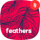 Simple Feathers Seamless Patterns / Backgrounds