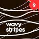 Wavy Stripes Seamless Patterns / Backgrounds