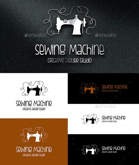 Sewing Machine Logo - Objects Logo Templates