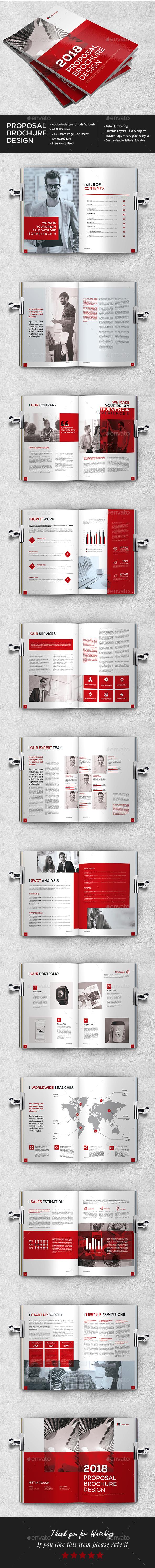 Clean Proposal Brochure - Brochures Print Templates