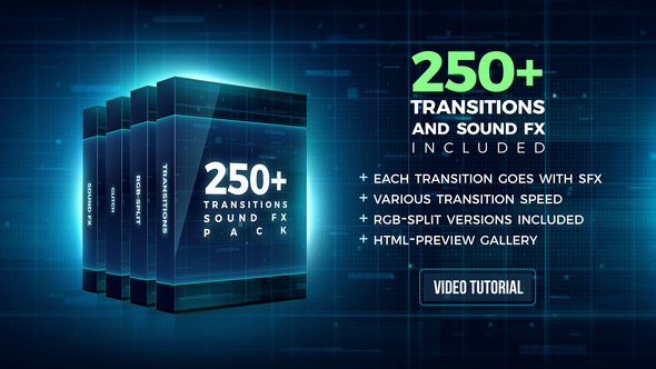 HOT - 250+ Pack: Transitions, Sound FX for Premiere Pro CC