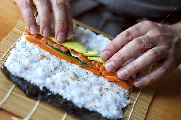 Cooking Maki - Stock Photo - Images