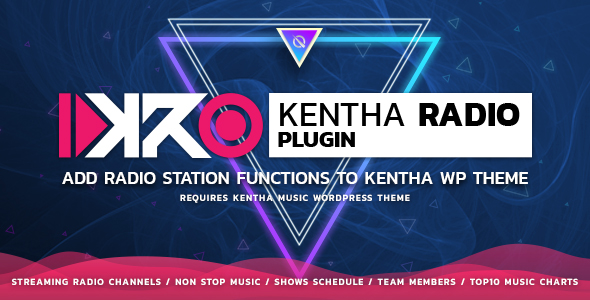 KenthaRadio - Addon for Kentha Music WordPress Theme To Add Radio Station and Schedule Functionality