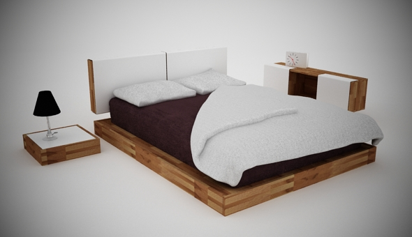 Bed SET - 3DOcean Item for Sale