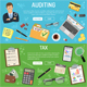 Auditing, Tax and Business Accounting Banners - GraphicRiver Item for Sale