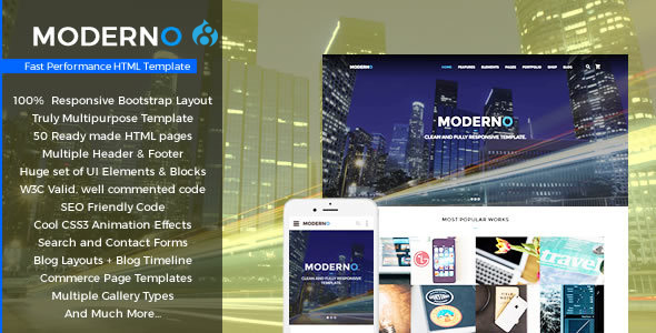 Image of Moderno - Multipurpose Fast Performance Drupal8 Theme