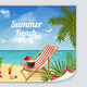 Beach Relaxation Leaflet Poster