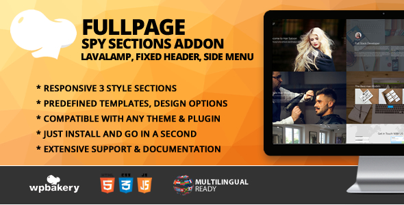 Fullscreen Spy Sections With Menu Addon for WPBakery Page Builder (formerly Visual Composer)            Nulled