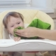 Baby Is Capricious and Crying Sitting on the Highchair in Kitchen - VideoHive Item for Sale