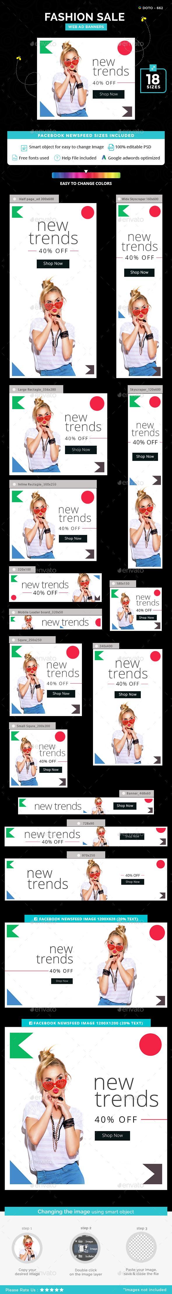 Fashion Sale Banner Set - Banners & Ads Web Elements
