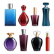 Perfume Colored Glass Bottles
