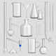 Laboratory Glassware Transparent Set