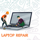 Laptop Repair Illustration