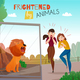 People Frightened By Animals Illustration