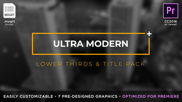 Videohive Ultra Modern Titles & Lower Thirds | MOGRT for Premiere Pro 21879654