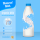 Milk Advertising Realistic Composition