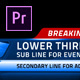Broadcast News Lower Thirds | MOGRT for Premiere Pro - VideoHive Item for Sale